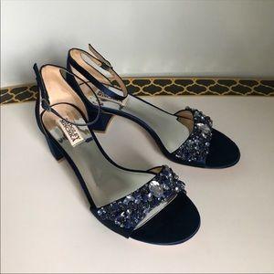 Badgley Mischka block heel shoes